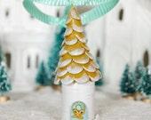 golden bow petite house ornament
