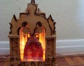 Vintage Mini House for Jesus - Light Up alter shrine