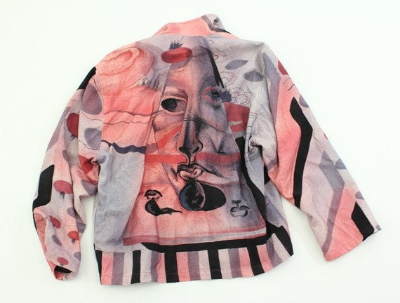 80's MYSTIC FACE hand painted jacket