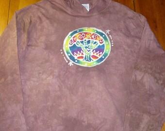batiked tree hoodie