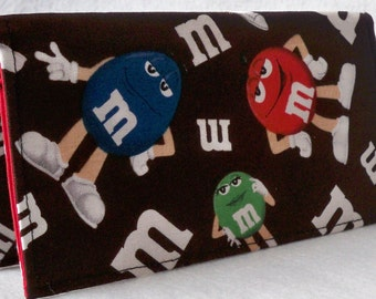 Will ship after 12/26/15 -CANDY Handmade checkbook cover /wallet
