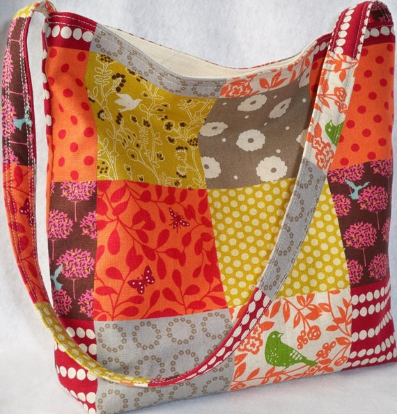 Story in Oranges/Browns - ECHINO Japanese slouch bag