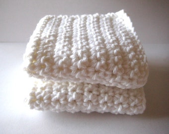 White Dish/Wash Cloths Set of 2