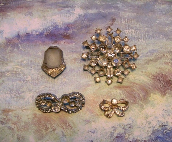 Very old Vintage Jewelry Craft lot 1900s