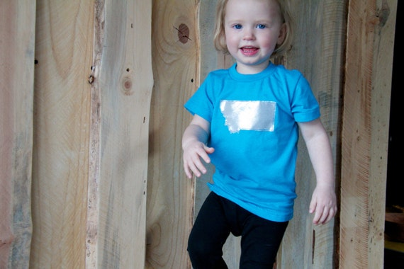 Electric blue GEO TEE / sizes 2, 4 / you pick geographical appliqué