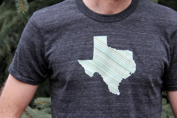 Gray unisexy GEO TEE / you pick geographical appliqué