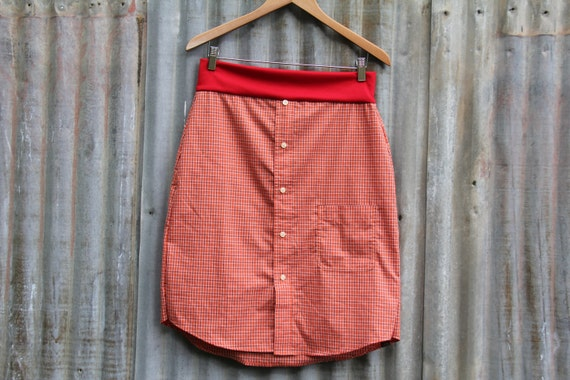 Size M women's upcycled skirt