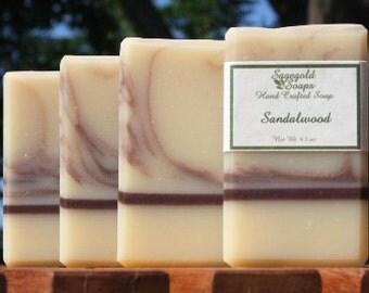 Sandalwood Handmade Cold Process Soap