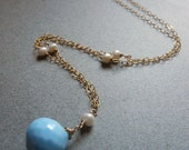 SALE Blue Eyes Laughing in the Sun Necklace SALE 20 off was 58 now 46