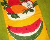 Vintage Linen Tea Towel - Chris Bash - FRUIT - Unused with Tags