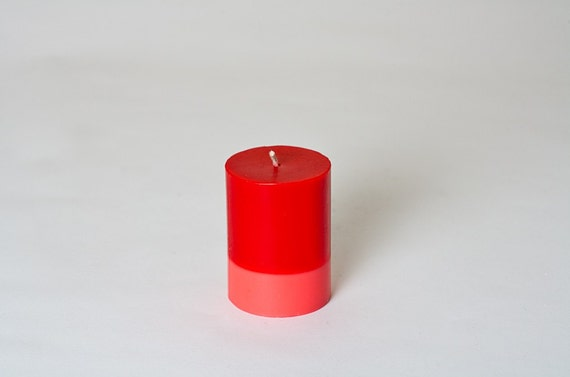 TNT Two Tone Pillar Candle - Cylinder