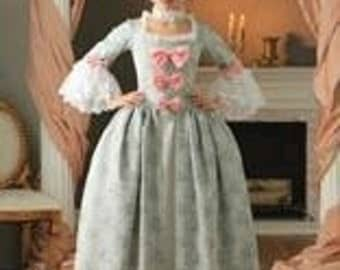 "marie antoinette gown pannier made to measurement choice of color""JENNIFER"""