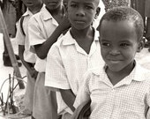 Haiti Relief, 8x10 BW Photo School Days
