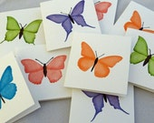 BUTTERFLIES mini note card set - 15 cards & envelopes