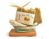 Organic Oatmeal Soap, Vegan Handmade Soap, Unscented Hot Process Soap