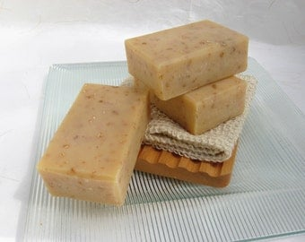Organic Oatmeal & Honey Soap, Lemongrass Essential Oil, Natural Soap,