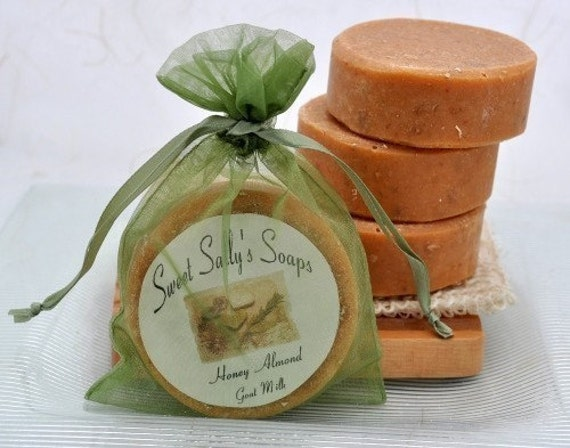 Goat Milk Honey Almond Organic Handmade Soap, Cold process soap, natural skin care