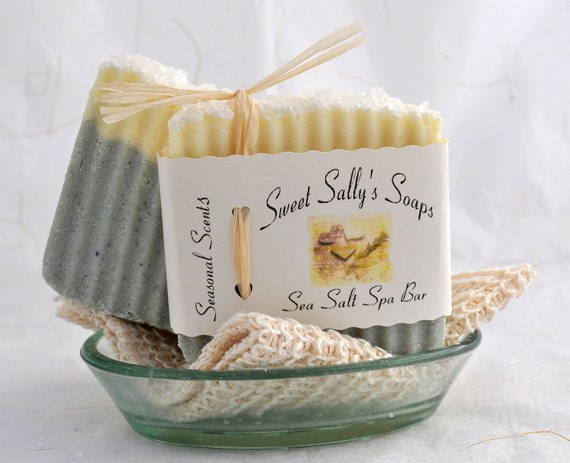 Sea Salt Spa Bar Handmade Soap, Vegan Soap, Cambrian Blue Clay Soap