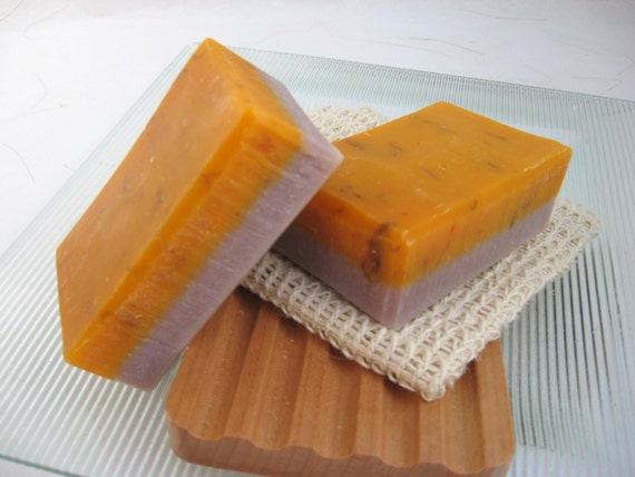 Lavender and Bergamot Organic Handmade Soap, Vegan Cold Process