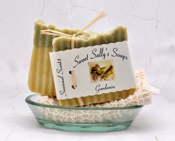 Gardenia Organic Soap, Vegan Hot Process Handmade Soap