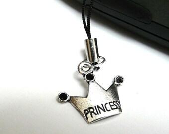 Princess Crown Cell Phone Charm / Purse Charm / Scissors fob / Car Charm / Zipper Pull