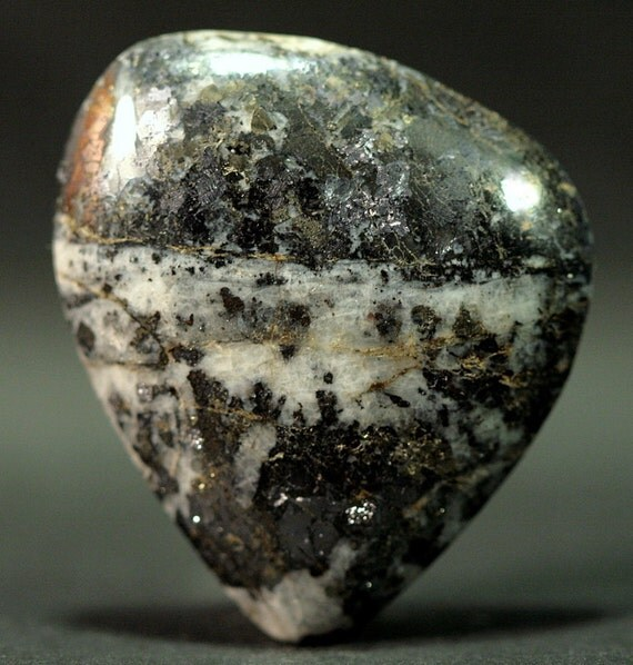 Galena Silver Pyrite Gold in Quartz 40mmx46mmx8mm Spectacular Cabochon