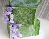 SALE Lavender Lime Natural Soap - Vegan - LARGE