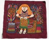 Kuna Mola Textile by Erdiana Valquez, Mola Making