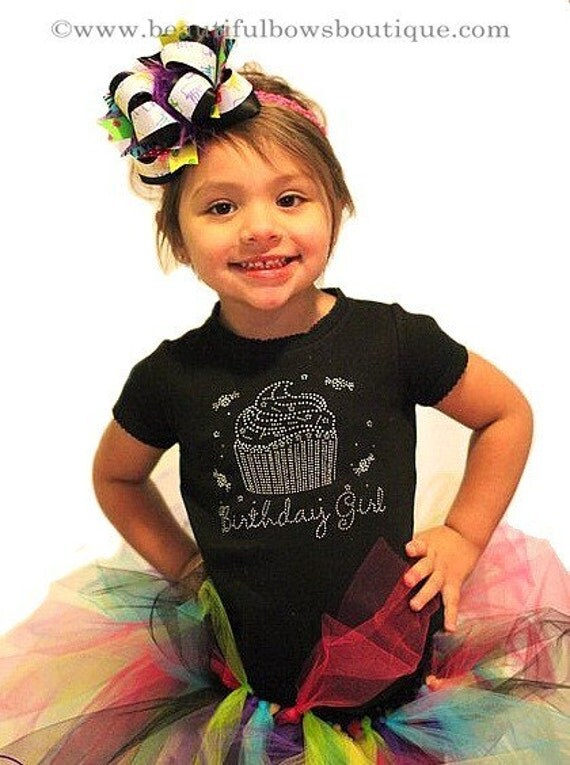 Rhinestone Birthday Birthday Girl Rhinestone Shirt