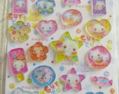 Kawaii Lemon Co CUTE TOWN cats and candy plexiglass PVC type stickers free shipping