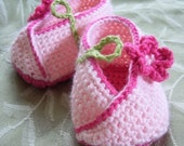 Download Now - CROCHET PATTERN Kimono Flower Crocheted Baby Shoes - Pattern PDF