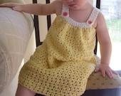 CROCHET PATTERN Pretty Pleated Yoke Dress - Baby to Youth - Pattern PDF