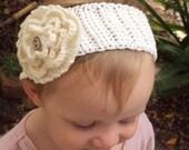 CROCHET PATTERN Knit-Look Fascinator Headwrap / Headband - Pattern PDF