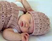 CROCHET PATTERN Lace Confection Hat - Baby to Adult - Pattern PDF