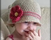 CROCHET PATTERN Cuteness Cloche Hat - Baby to Adult - Pattern PDF