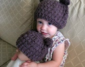 CROCHET PATTERN Beary Adorable Hat - Baby and Toddler Sizes - Pattern PDF