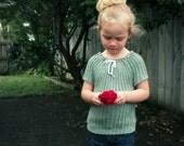 CROCHET PATTERN Crocheted Peasant Top - 0-12 Years - Pattern PDF
