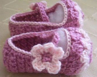 Download Now - CROCHET PATTERN Flower Petal Mary Janes - Baby and Toddler - Pattern PDF