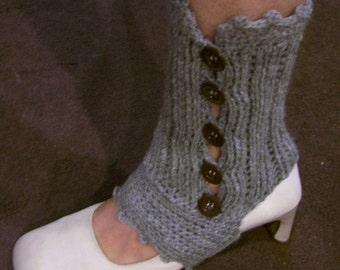Download Now - CROCHET PATTERN Knit-Look Crocheted Spats (Ankle-Warmers) - Pattern PDF