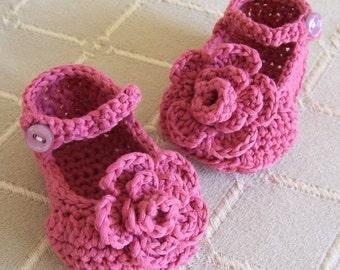 Download Now - CROCHET PATTERN Rose Garden Mary Janes - Pattern PDF