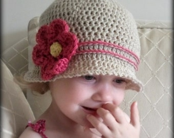 Download Now - CROCHET PATTERN Cuteness Cloche Hat - Baby to Adult - Pattern PDF