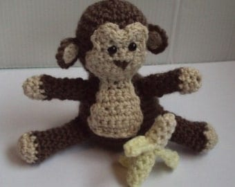 Download Now - CROCHET PATTERN Baby Monkey and Banana - Pattern PDF