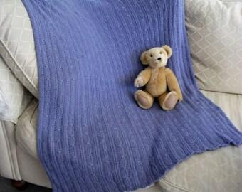 Download Now - CROCHET PATTERN Mock Cable-Knit Baby Blanket - Pattern PDF