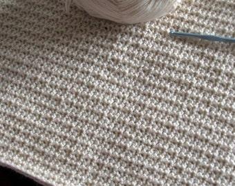 Download Now - CROCHET PATTERN Textured Mesh Blanket - Pattern PDF
