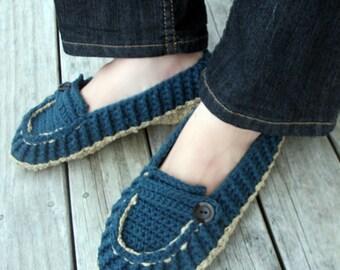 Download Now - CROCHET PATTERN Ladies Modern Loafers - Pattern PDF