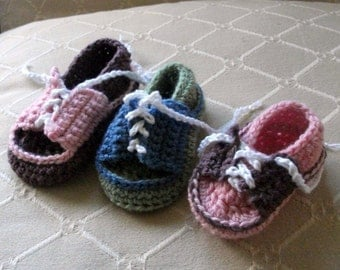 Download Now - CROCHET PATTERN Baby Saddle Shoes - 0-18 mos - Pattern PDF