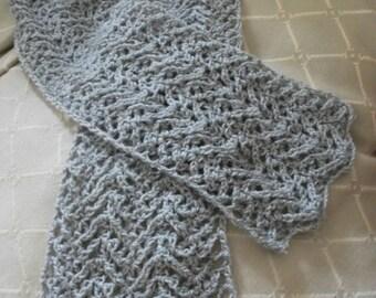 Download Now - CROCHET PATTERN Knit-Look Lace Scarf - Pattern PDF