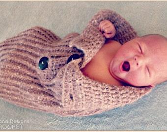 Download Now - CROCHET PATTERN Knit-Look Baby Bundler - Pattern PDF