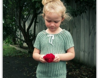 Download Now - CROCHET PATTERN Crocheted Peasant Top - 0-12 Years - Pattern PDF