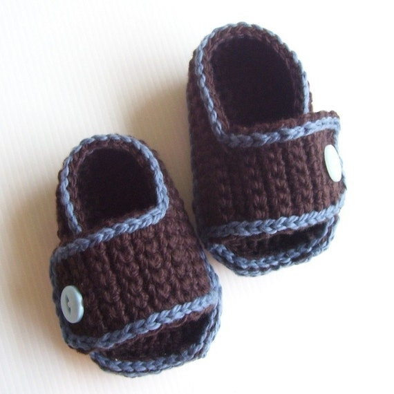 Download Now - CROCHET PATTERN Sporty-Casual Baby Sandals - Pattern PDF
